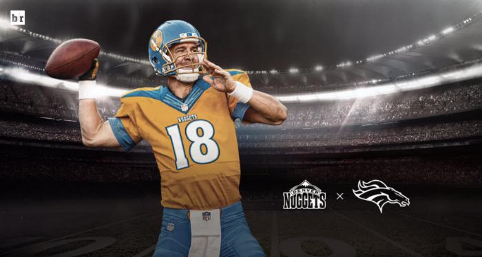 best website bde37 57c67 LOOK: This Denver Broncos x Denver Nuggets jersey mashup is ...