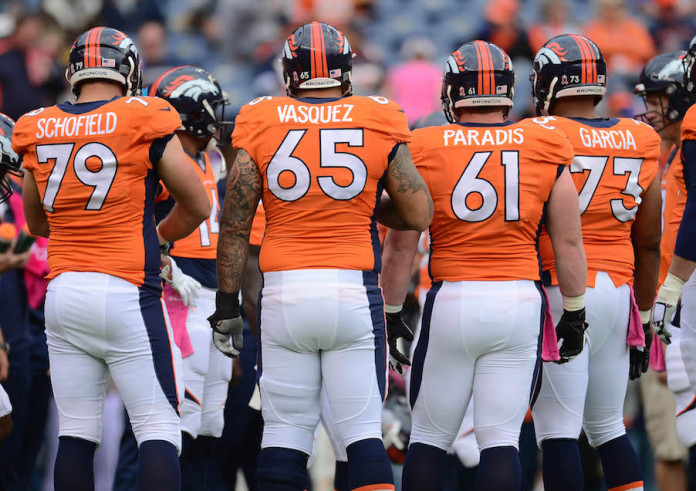 denver broncos offensive line history betting