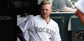 Trevor Story's opening day jersey