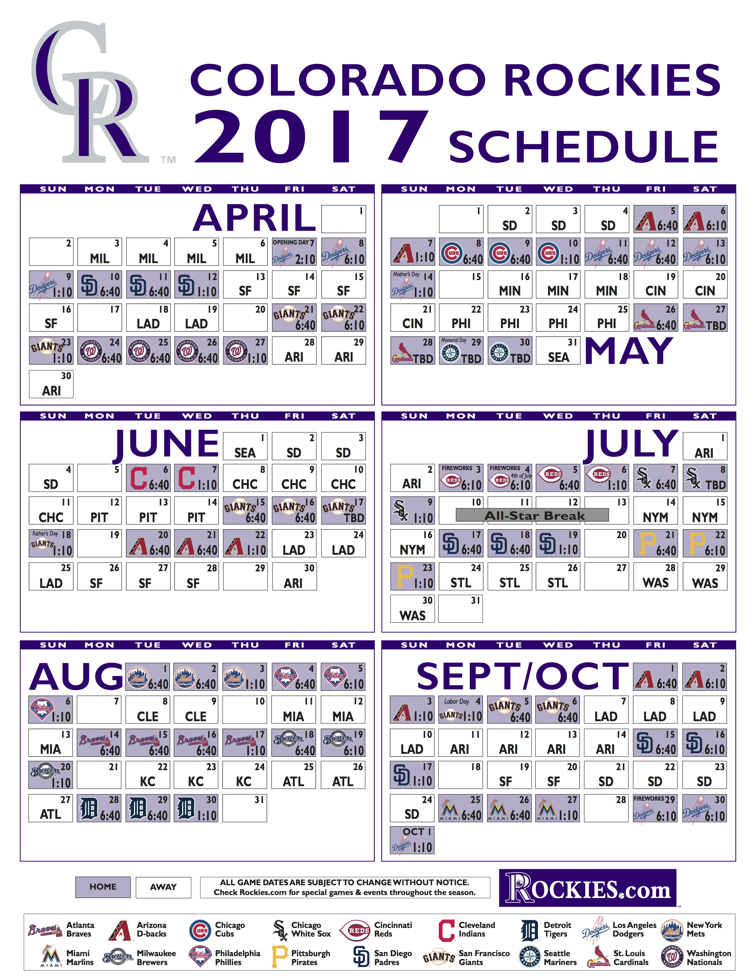 2017 Promotional Schedule Detroit Tigers | 2017/2018/2019 ...