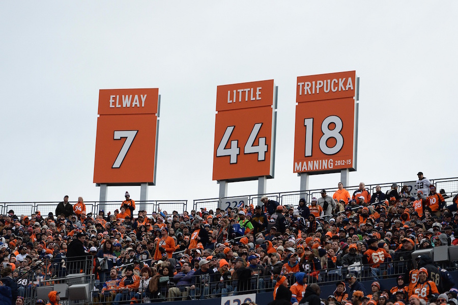 Denver Broncos, Retired Numbers | Mile High Sports  for sale