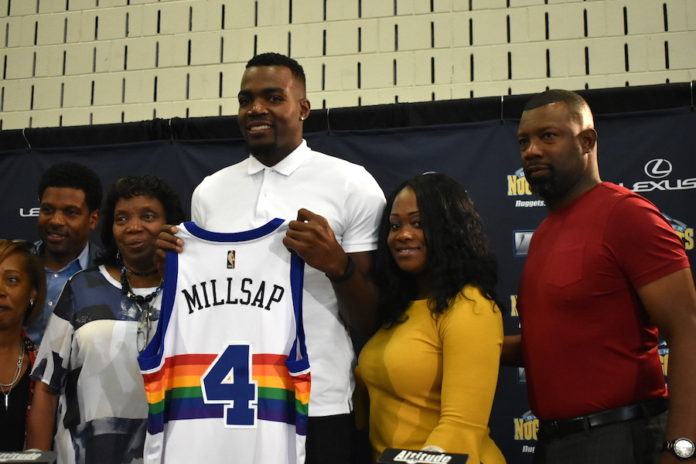 sports shoes 2a196 aad64 Paul Millsap grateful to return to his childhood home ...