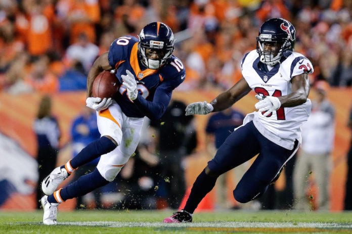Broncos receiver Emmanuel Sanders won't be charged in Texas sexual assault case