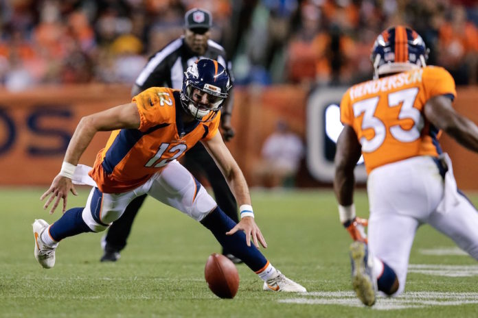 Paxton Lynch to miss a couple games with shoulder injury
