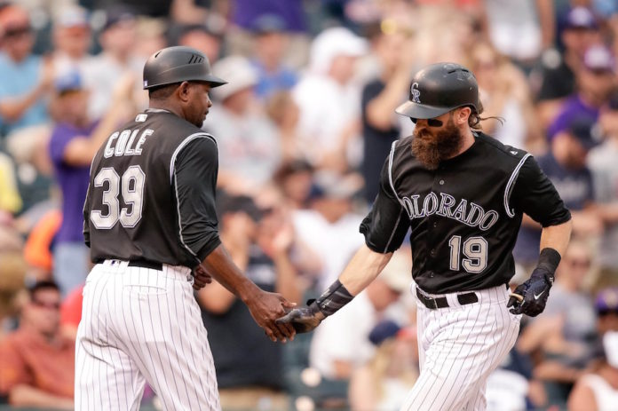 Gonzalez draws winning walk in 9th, Rockies beat Giants 4-3