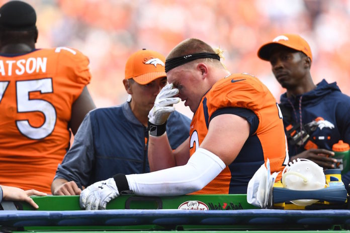 Broncos' Garett Bolles (leg) week-to-week with a bone bruise