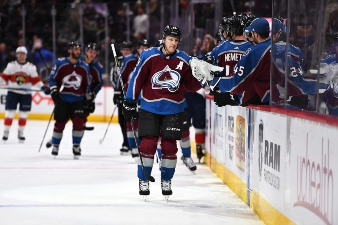 8a8b9f34a3b Nathan MacKinnon scores twice in first game of homestand