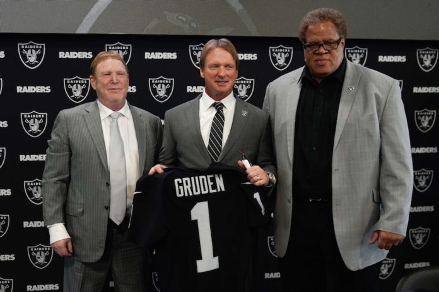 Group promoting National Football League  minority hiring questions Raiders' Jon Gurden hiring process