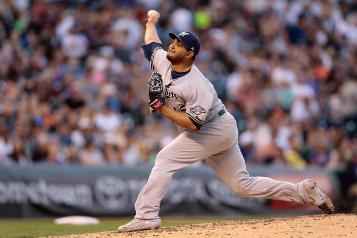 Freddy Peralta strikes out 13 in major league debut