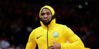 Denver Nuggets forward Kenneth Faried (35) before the game against the Dallas Mavericks at the Pepsi Cente