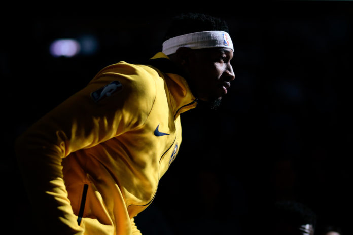 Denver Nuggets guard Torrey Craig (3) during player introductions before the game against the Milwaukee Bucks at the Pepsi Center. Mandatory Credit: Isaiah J. Downing