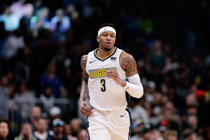 Denver Nuggets guard Torrey Craig (3) in the first quarter against the Milwaukee Bucks at the Pepsi Center.