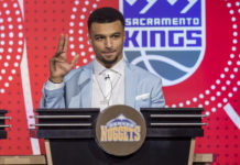 Denver Nuggets Player Jamal Murray during the 2018 NBA Draft Lottery at the Palmer House Hilton.