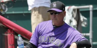 Rockies manager Bud Black. Credit: David Kohl, USA TODAY Sports.