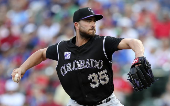 Chad Bettis struggled early and dominated late, winning for the Rockies Friday night. Credit: Kevin Jairaj, USA TODAY Sports.