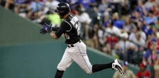 Ian Desmond trots around the bases after a home run against Texas on June 15. Credit: Kevin Jairaj, USA TODAY Sports.