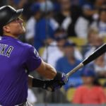 Pat Valaika's home run against the Dodgers. Credit: Jayne Kamin-Oncea, USA TODAY Sports.
