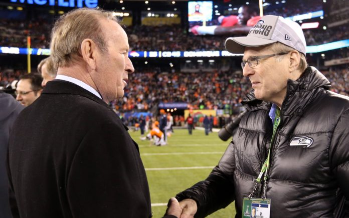 Pat Bowlen at Super Bowl XLVIII in 2014. Credit: Matthew Emmons, USA TODAY Sports.