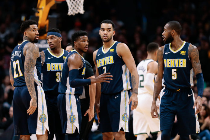 25a13f3f2657 Denver Nuggets forward Wilson Chandler (21) and guard Torrey Craig (3) and
