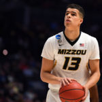 Missouri Tigers forward Michael Porter Jr. (13) shoots against the Florida State Seminoles during the first half in the first round of the 2018 NCAA Tournament at Bridgestone Arena.