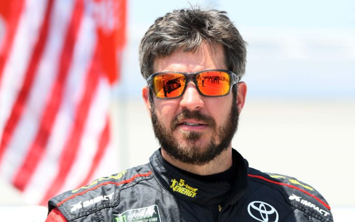 Martin Truex Jr. on July 1, 2018. Credit: Mike Dinovo, USA TODAY Sports.