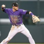 Trevor Story has been a rising star for the Rockies this season. Credit: Russell Lansford, USA TODAY Sports.