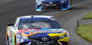Martin Truex at Pocono Sunday. Credit: Matthew OHaren, USA TODAY Sports.
