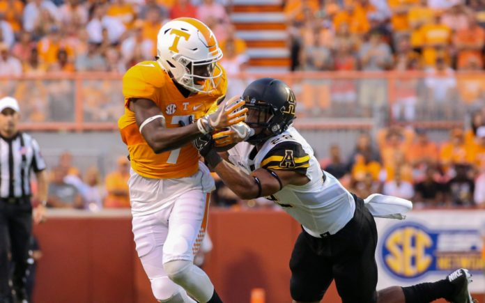 Preston Williams at Tennessee. Credit: Randy Sartin, USA TODAY Sports.