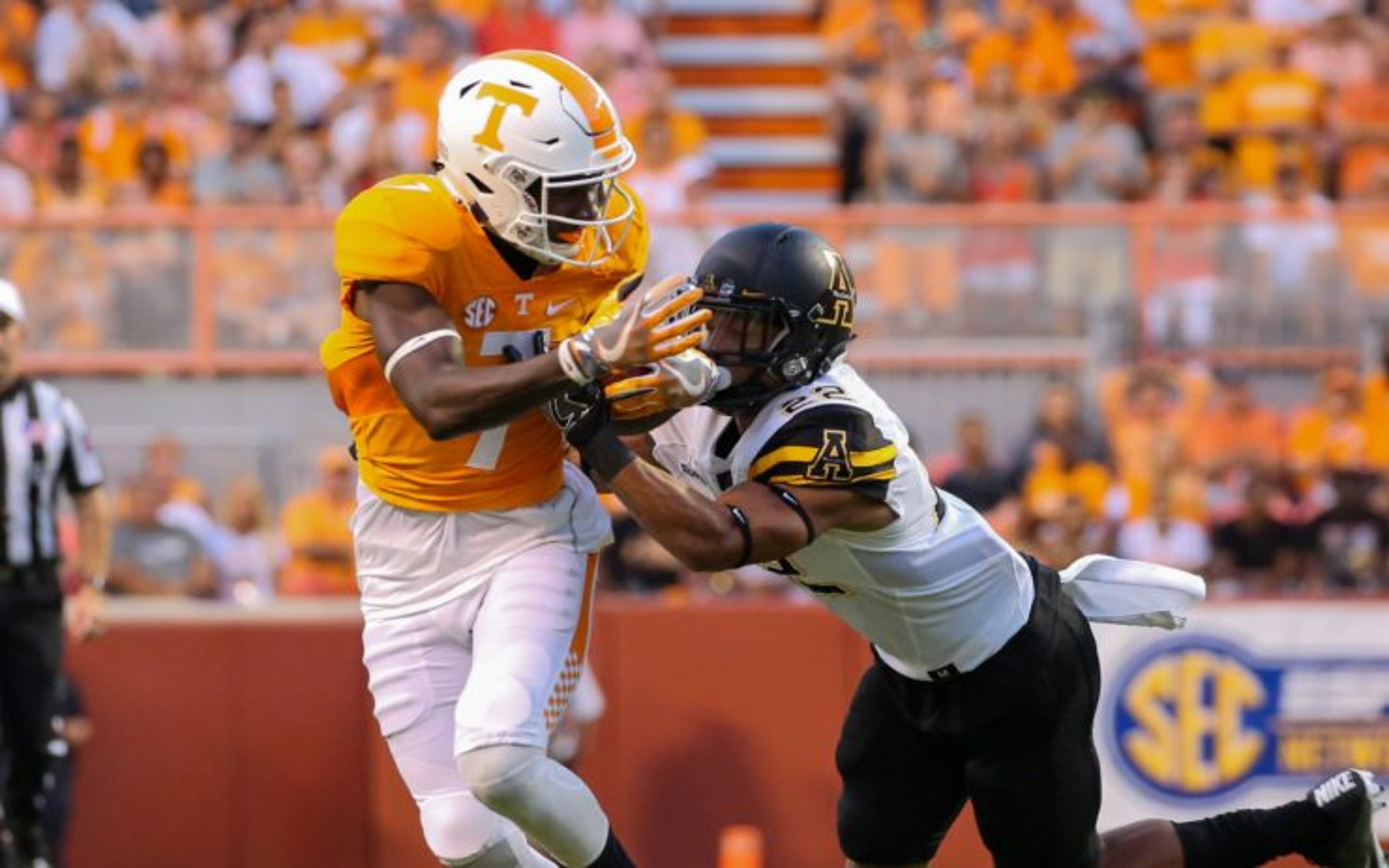Preston Williams at Tennessee. Credit: Randy Sartin, USA TODAY Sports.