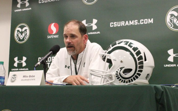 Mike Bobo speaks to the media Tuesday, July 31. Credit: Rich Kurtzman.