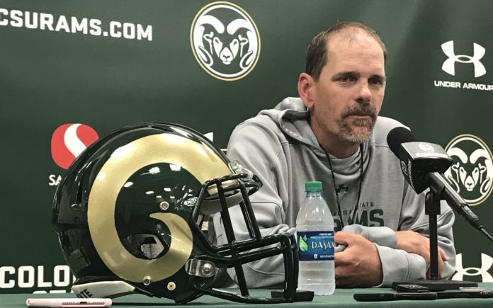 Mike Bobo after the Saturday scrimmage. Credit: Rich Kurtzman.