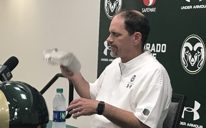 Mike Bobo after the loss to Hawaii Saturday night. Credit: Rich Kurtzman