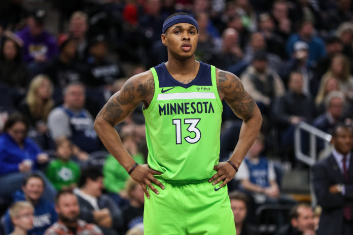 Minnesota Timberwolves guard Marcus Georges-Hunt (13) during the game between the Toronto Raptors and Minnesota Timberwolves at Target Center.