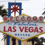 General overall view of the Welcome to Fabulous Las Vegas sign on Las Vegas Blvd. on the Las Vegas strip.