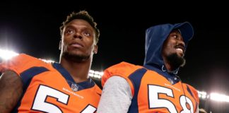 Brandon Marshall and Von Miller. Credit: Isaiah J. Downing, USA TODAY Sports.