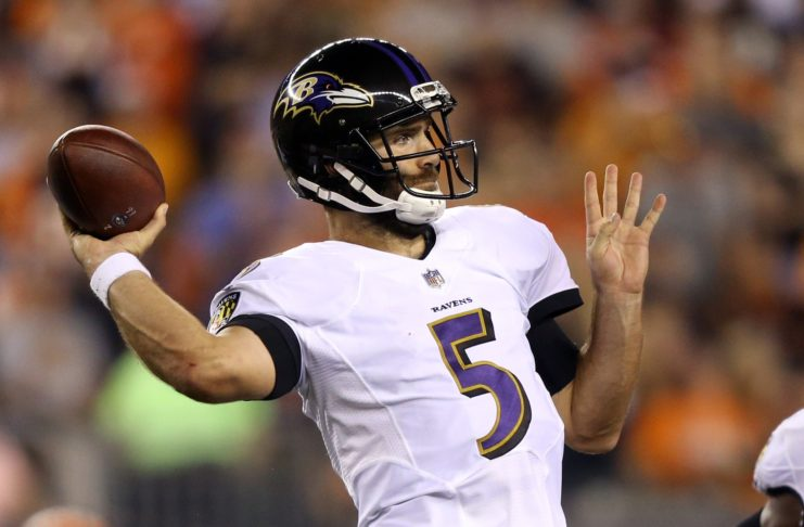 Joe Flacco. Credit: Aaron Doster, USA TODAY Sports.