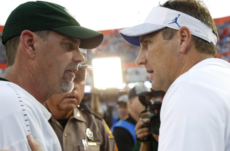 Mike Bobo after CSU's loss to Florida. Credit: Kim Klement, USA TODAY Sports.