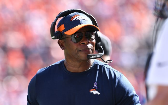 Vance Joseph. Credit: Ron Chenoy, USA TODAY Sports.