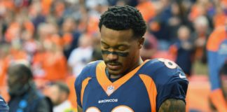 Demaryius Thomas. Credit: Ron Chenoy, USA TODAY Sports.