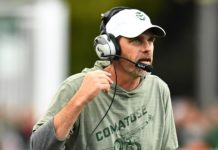 Mike Bobo. Credit: Ron Chenoy, USA TODAY Sports.