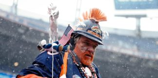 Broncos fan. Credit: Isaiah J. Downing, USA TODAY Sports.
