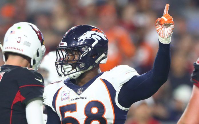 Von Miller. Credit: Mark J. Rebilas, USA TODAY Sports.
