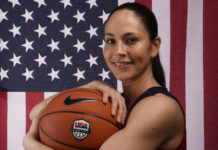 USA basketball athlete Sue Bird poses for a portrait during the 2016 Team USA Media Summit at Beverly Hilton.