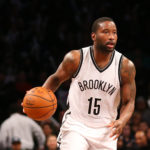 Brooklyn Nets guard Donald Sloan (15) moves the ball during the fourth quarter against the Indiana Pacers at Barclays Center. Brooklyn Nets won 120-110.