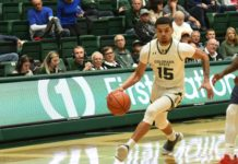 Anthony Masinton-Bonner drives. Credit: CSU Athletics Communications.