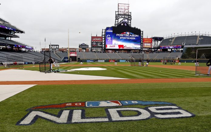 shot of the field before game 3 of NLDS