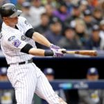 D.J. LeMahieu hits a home run. Credit: Russell Lansford, USA TODAY Sports.