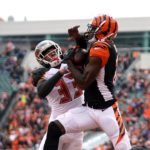 A.J. Green catches a touchdown. Credit: Aaron Doster, USA TODAY Sports.