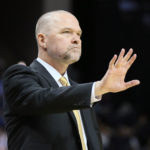 Denver Nuggets head coach Michael Malone during the game against the Memphis Grizzlies at FedExForum. Memphis won 89-87.