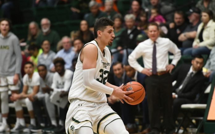 Nico Carvacho drives. Credit: CSU Athletics Communications.